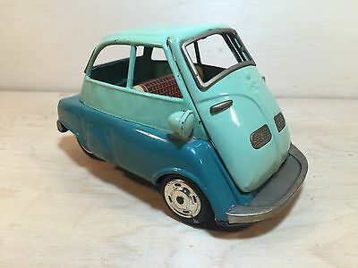 Vintage Promotional Car Isetta 700 Tin Friction Car Made by Bandai Japan