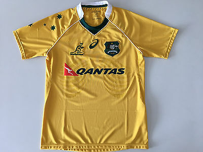 Australia Wallabies 2016 Home Rugby Union Jersey Mens S M L Xl New