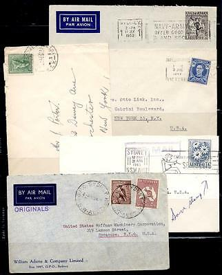 AUSTRALIA SEL OF 10 1940's-60's MOSTLY AIRMAIL TO USA