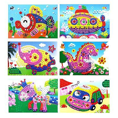 Baby Kids Developmental 3D Crystal Mosaics Art Sticker Mosaic Craft Kit Toy Gift