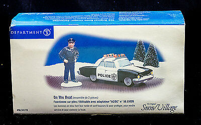D56 Sv  New In Box On The Beat Set Of 2 Animated Ret 2006