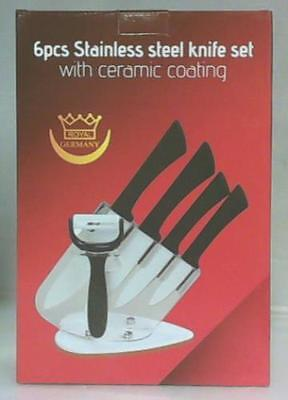 NEW Royal Germany 6pc Stainless Steel Knife Set with Ceramic Coating $89