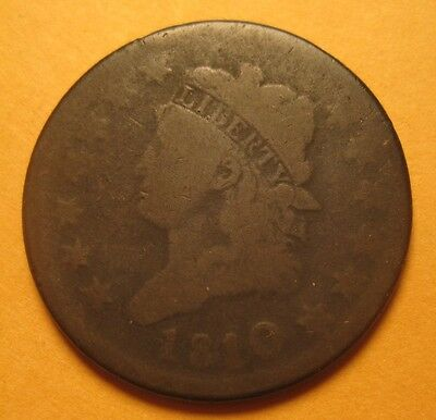 1810/09 Classic Head Large Cent (S-281/R1) – Original & Nice !