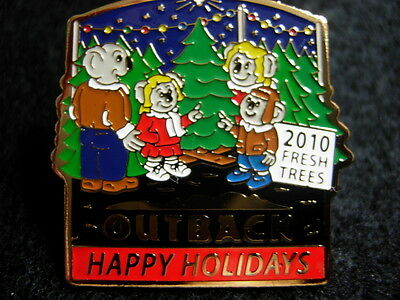 Outback Steakhouse Happy Holidays 2010 hat lapel pin Koalas