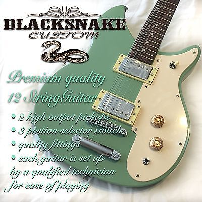 Blacksnake 12 String Electric Guitar Surf Green, 2 Humbucking Pickups