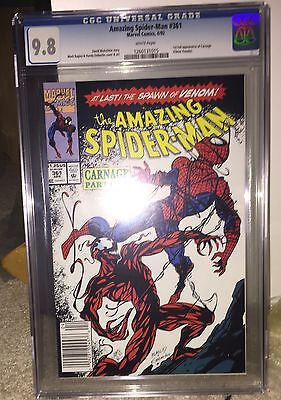 Amazing Spider-Man 361 Apr 92  First Appearance of Carnage CGC 9.8 Newsstand