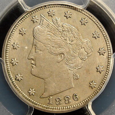 1886 Liberty Nickel, PCGS/CAC AU-55, Original PQ KEY Date