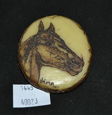 ThriftCHI ~ Resin Bolo Tie Pendant w Horse Head Signed Jama