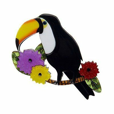 Authentic Ltd Ed Erstwilder Brooch - Toco Of The Tropics. New In Gift Box.