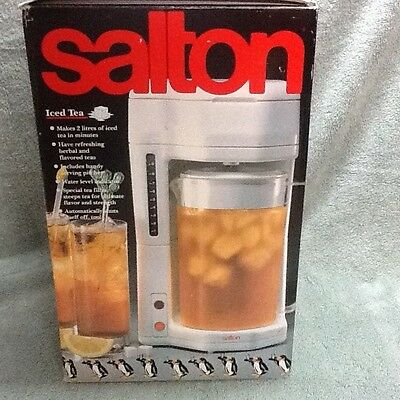 Salton 2 Liter Iced Tea Iced Coffee Maker KM-44 NEW in Original Box & Packaging