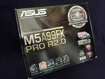 ASUS M5A99FX PRO R2.0 Motherboard Used With Box, Plate, Q-Connect AM3+ FX