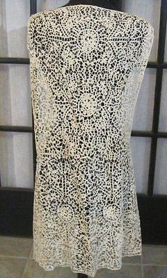 Gorgeous Antique Bobbin LACE Dress Piece ORNATE Work