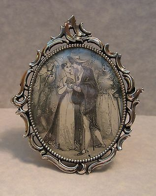 Antique Loring Andrews Co, Cincinnati Sterling Silver Miniature Picture Frame