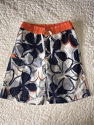 Hanna Andersson Boys Flower Boardshorts Swim Trunks Size 110 (4 5 6) EUC!