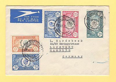South Africa - 1935 Silver Jubilee Airmail Cover To Germany -