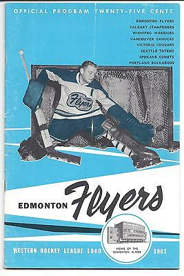 1960-61 Edmonton Flyers vs Vancouver Canucks Hockey Program