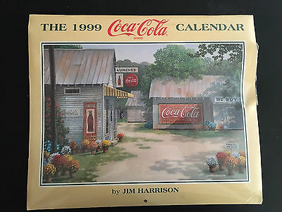 Original & Collectible 1999 Coca-Cola Calendar by Jim Harrision (NIP)