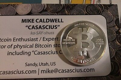 Rare Casascius 0.1 BTC Silver Physical Bit coin  Funded Fresh Old Unopened Roll