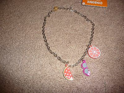 NWT Gymboree Girls Island Girl fruit/sunglasses chain necklace BEAUTIFUL new