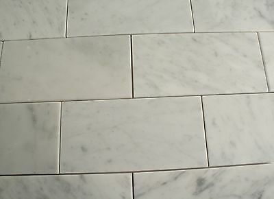 Carrara Marble Subway Wall Tile 75x150mm