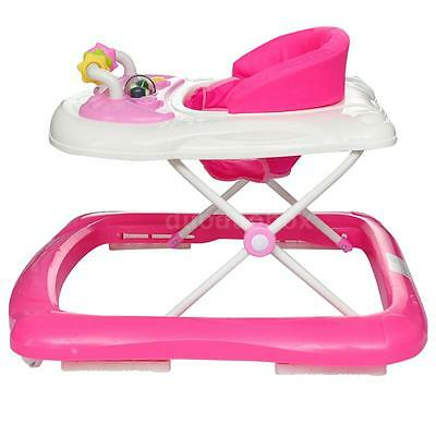 New Safety  Baby walker  Adjustable Height   Toddler Kids pink