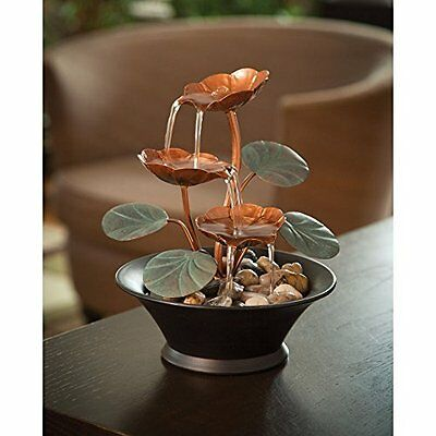 Water Fountains Indoor Tabletop Decoration Relaxation Metal Blooms Lightweight