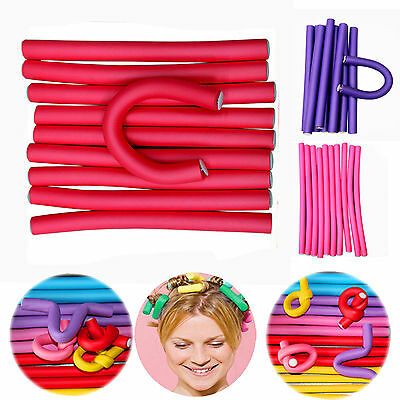 NT 10Pcs Simple Soft Curler Makers Bendy Twist Curls Tool Styling Hair Rollers