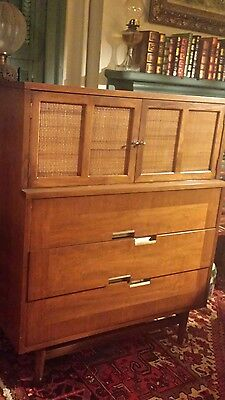 Vintage Mid Century Danish Modern Walnut American of Martinsville Chest Dresser