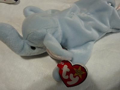 Ty Beanie Baby PEANUT (LIGHT BLUE) MINT WITH TAGS 1995