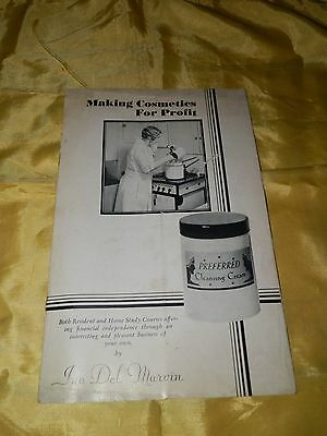 """Cira 1930's Advertising Booklet-""""Making Cosmetics for Profit"""" by Ina Del Marvin"""