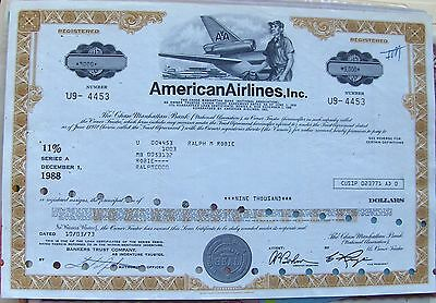 Bond $2000 American Airlines, Inc. 1970's Chase Manhattan bank, New York