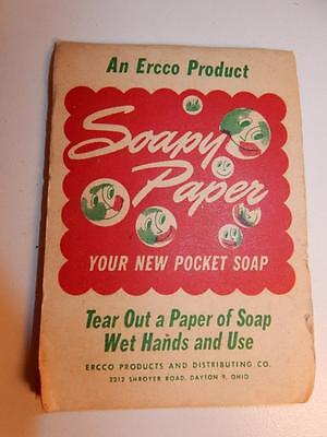 VINTAGE 1940s ERCCO PRODUCT BOOK OF SOAP SOAPY PAPER POCKET SOAP