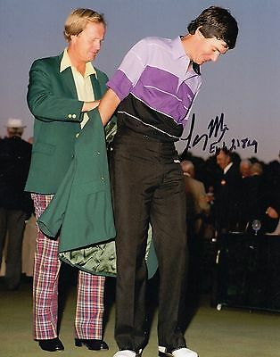 Larry Mize Masters Golf Tournament Winner Signed 8x10 Pholo Comes With COA lm2