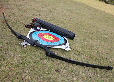 Hunting Practice Target Fishing Sport Right Hand 40IB Shooting Long Straight Bow