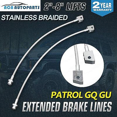 "For Nissan Patrol GQ Y60 GU Y61 Braided Extended Brake Lines Suit 2""-8"" Lift Kit"