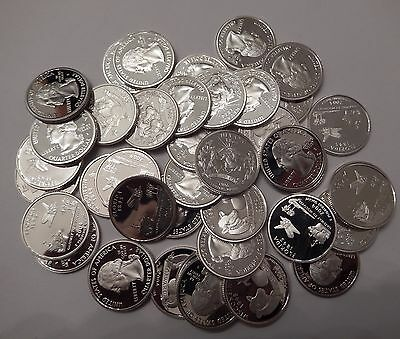 Lot of 40x Proof PF Washington Quarters 90% Silver Mixed Dates San Francisco 04