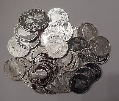 Lot of 40x Proof PF Washington Quarters 90% Silver Mixed Dates San Francisco 05
