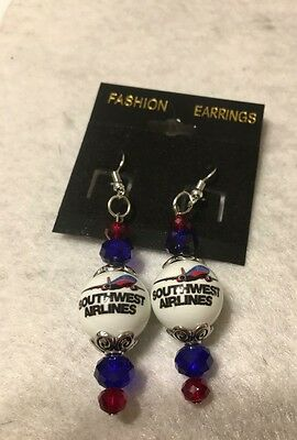 SOUTHWEST Airlines Earrings Stewardess Flight Attendant promotional collectable