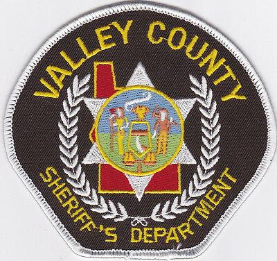 IDAHO Valley County Sheriff patch, state outline,