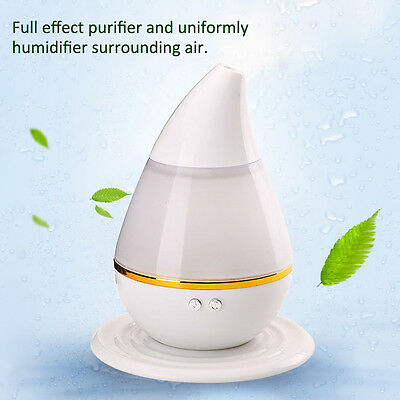 7 Color LED Ultrasonic Air Humidifier Purifier Aroma Diffuser Aromatherapy 250ml