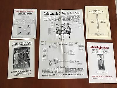 c.1925 Commercial Testing & Engineering Co. Coal Testing Instrument Catalog Lot