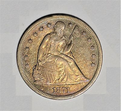 1871 Seated Liberty Dollar Gorgeous Color!
