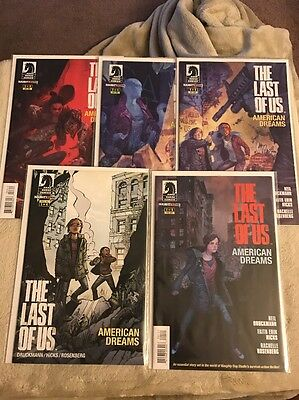 Dark Horse The Last Of Us 1-4 Plus Variant Comic Book Lot Naughty Dog Rare
