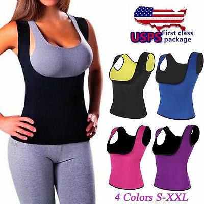 New Push Up Neoprene Slimming Vest Women Sweat Body Shaper Shirt Sauna Tank Top