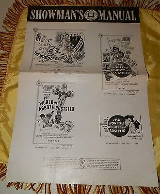 """1965 Uncut Press Book-""""The World of Abbott and Costello""""-AWESOME!"""