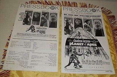 """1968 Uncut Press Book and Supplement-""""Planet of the Apes""""-Charlton Heston"""