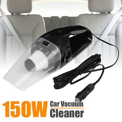 12V Mini Portable Handheld Car Vehicle Vacuum Cleaner Auto Recharge Wet Dry150W