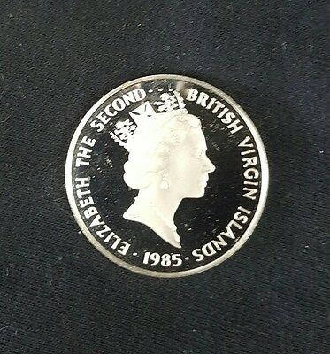 1985 British Virgin Islands 20 dollars silver coin