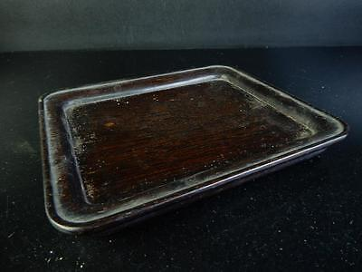 H1312: Japanese Hollowed out WOODEN TRAY/plate Senchabon Tea Ceremony