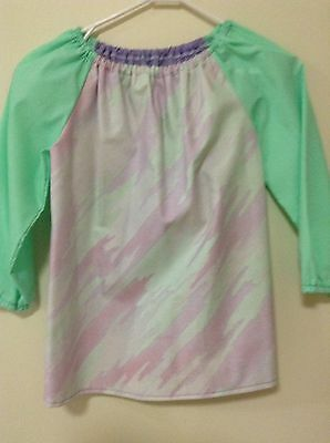 Kids Clearance Art Smock  Girls 4-7 With Thermal Backing And Library Bag